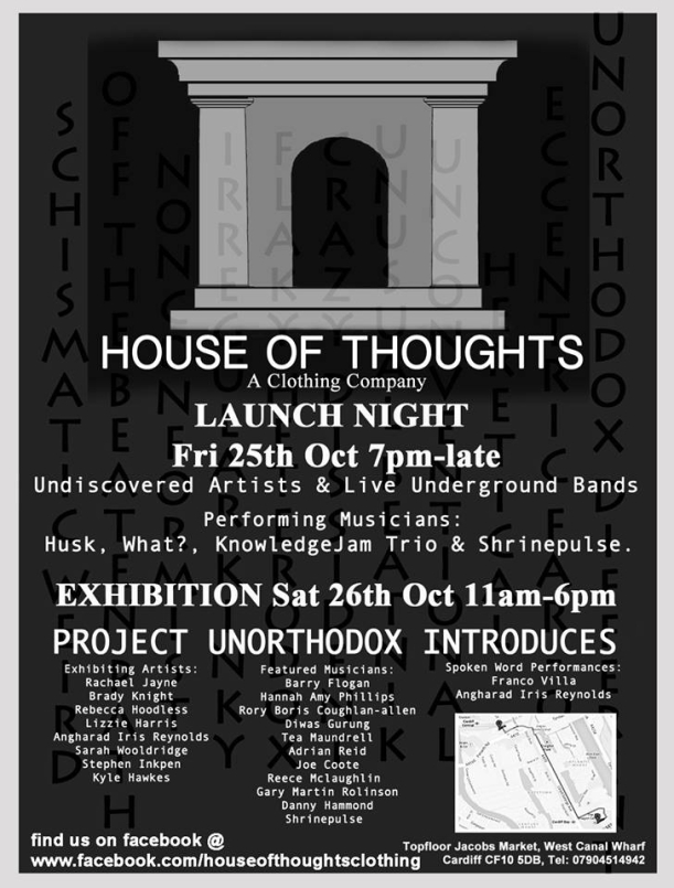 Hous of Thoughts Clothing Launch Night This Friday!